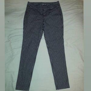 """Houndstooth"" printed pants"